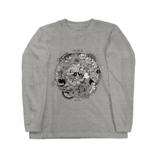 第三惑星第三者イラスト(黒) Long sleeve T-shirts