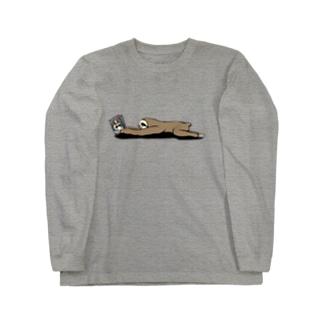 本と、なまけもの(かげなし) Long sleeve T-shirts