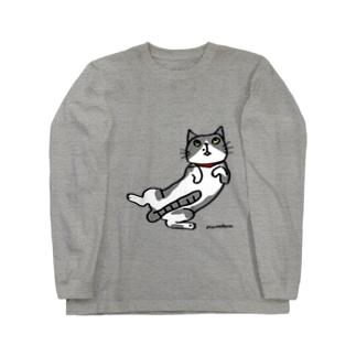 猫が溶けてます Long sleeve T-shirts