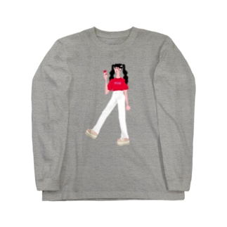 コーラガール Long sleeve T-shirts