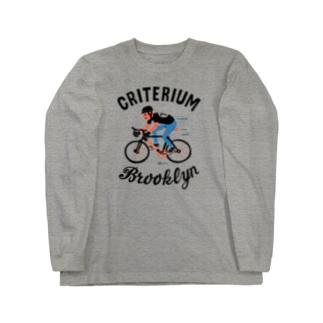 ブルックリン★自転車レース Long sleeve T-shirts
