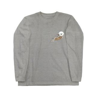 ラッコの親子 Long sleeve T-shirts