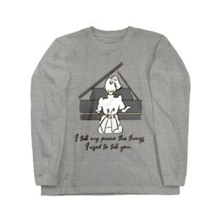 名言ロゴT(ピアノ)片面 Long sleeve T-shirts