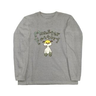 ねこぜや のモンスター工場🏭 モモ Long sleeve T-shirts