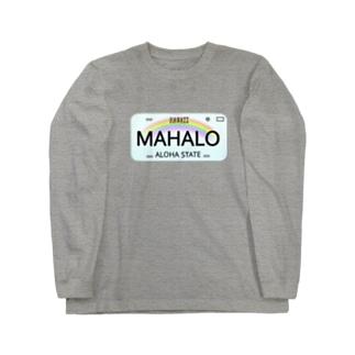 ハワイナンバープレート・MAHALOちゃん Long sleeve T-shirts