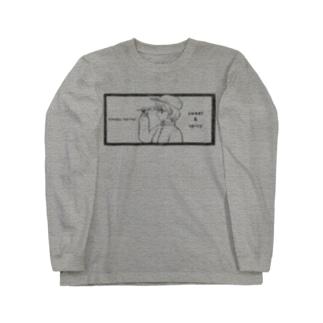 -ウマクナリタイ-キャスケット女子 黒 Long sleeve T-shirts