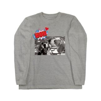 期間限定★ビーグルKISS Long sleeve T-shirts