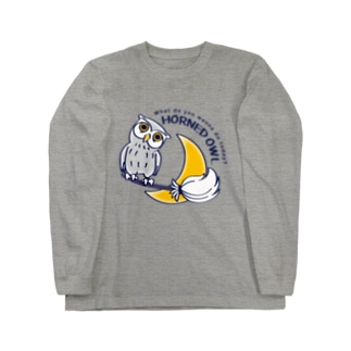 CT72 夜の誘惑 HORNED OWL_A Long sleeve T-shirts