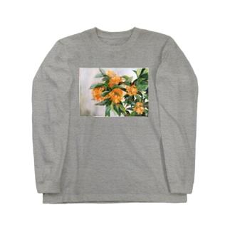 花 (金木犀) Long sleeve T-shirts