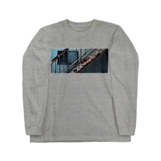 廃 ''階段'' Long sleeve T-shirts