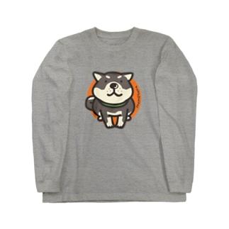 くろしばわんこ Long sleeve T-shirts