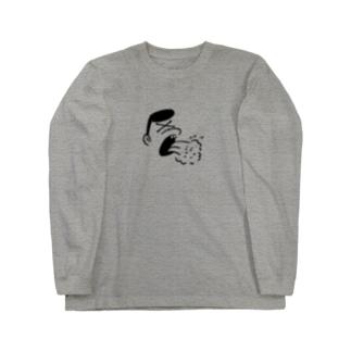 AUTO(嘔吐)  Long sleeve T-shirts