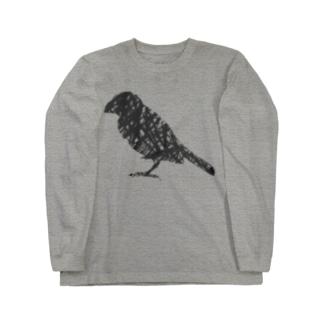 ペンタッチ 鳥 Long sleeve T-shirts