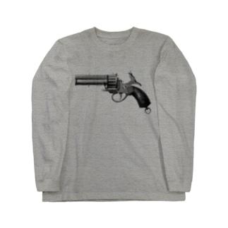 リボルバー <アンティーク・プリント> Long sleeve T-shirts