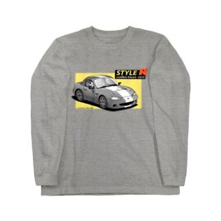 神塚ときおクルマイラストコレクション001「マツダロードスターNB2」(白フチ無し版) Long sleeve T-shirts