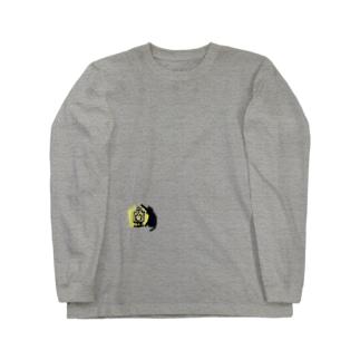 黒猫ランタン Long sleeve T-shirts