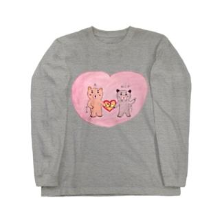 黒ひょう&こぐま夫婦 Long sleeve T-shirts