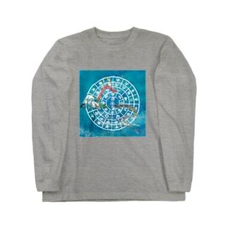 向かい合うタツとフトマニ Long sleeve T-shirts