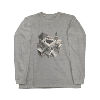 名画を楽しむてんとう虫~無限に登れる絵画~ Long sleeve T-shirts