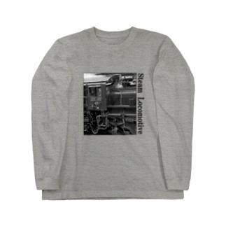D51498 運転席周辺 黒いレタリング (モノクロフォト) Long sleeve T-shirts