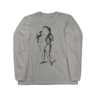 グランヴィル「蛙」 <アンティーク・プリント> Long sleeve T-shirts