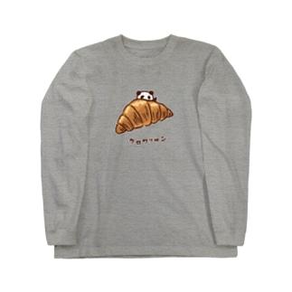 クロワッサンとパンダ Long sleeve T-shirts