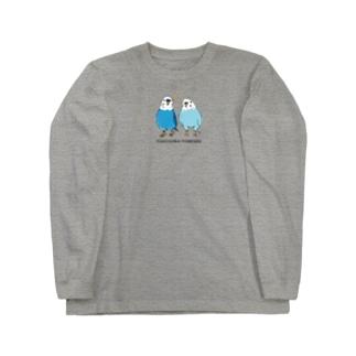 ポコそら2ショット Long sleeve T-shirts
