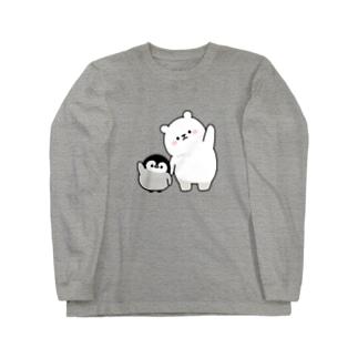 心くばりペンギン / シロクマといっしょver. Long sleeve T-shirts