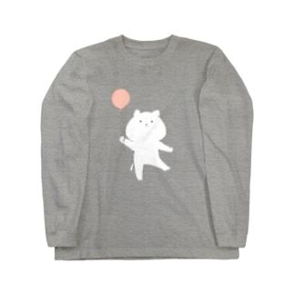 風船にゃんこ Long sleeve T-shirts