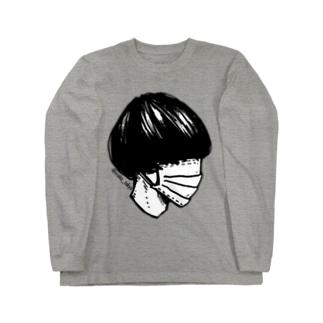 #コンプレックス 黒髪マッシュ Long sleeve T-shirts