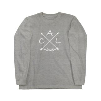 dacci 矢(白) Long sleeve T-shirts