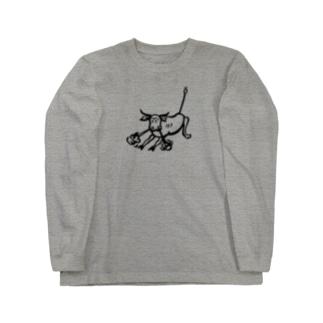 荒ぶる雄牛(Snorting Bull) Long sleeve T-shirts