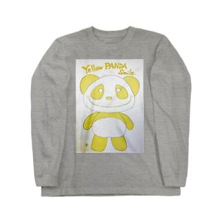 イエローパンダ スマイルのイエローパンダスマイル♡ Long sleeve T-shirts