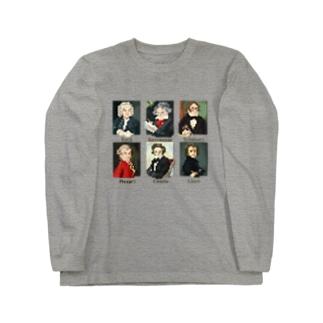 ドット 音楽室の肖像画 Long Sleeve T-Shirt