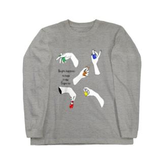 ユビサキとシアワセ Long sleeve T-shirts