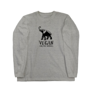 VEGAN FOR THE ANIMALS Long sleeve T-shirts