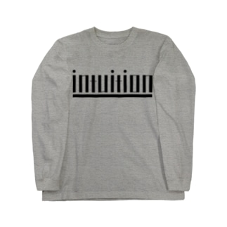 intuition(黒ロゴ) Long sleeve T-shirts