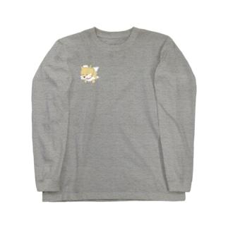 突きぬ犬(茶) Long sleeve T-shirts