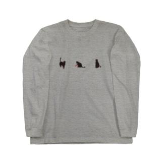黒にゃー Long sleeve T-shirts