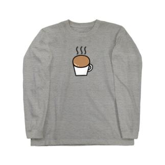 なみなみカフェオレ Long sleeve T-shirts