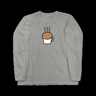 Ochieのなみなみカフェオレ Long sleeve T-shirts