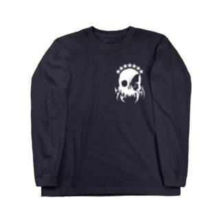 バタフライスカル・アイ/ホワイト ロングスリーブTシャツ