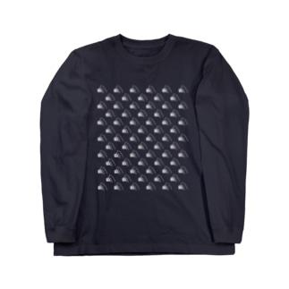 まるかじり猫ロゴTシャツ・暗色向け ロングスリーブTシャツ