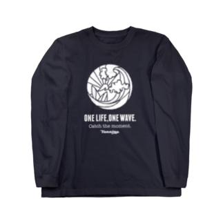 One Life, One wave.(ホワイト) ロングスリーブTシャツ