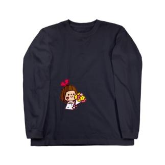 花束リボンちゃん ロングスリーブTシャツ