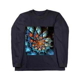 花 ロングスリーブTシャツ