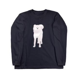 【ロンT】秋田犬~白毛 ロングスリーブTシャツ