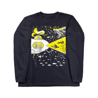 宇宙潜水艇 Lagopus muta ロングスリーブTシャツ