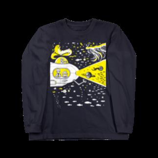 金星灯百貨店の宇宙潜水艇 Lagopus mutaロングスリーブTシャツ