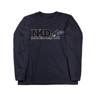 スリスリNKDW(黒) ロングスリーブTシャツ